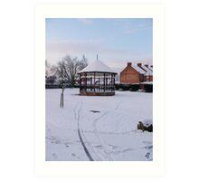 Bandstand in Blake Gardens - winter. Art Print