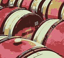 Oak wine barrels by Robert Kobrzynski