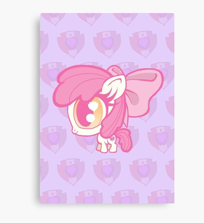 Weeny My Little Pony- Applebloom Canvas Print