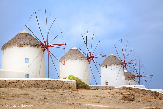 The Greek windmills of Mykonos   [FEATURED] by John44