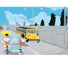 Jeep and Tricycle Photographic Print