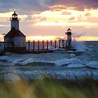 St Joseph North Pier Lighthouse by Debbie Mueller