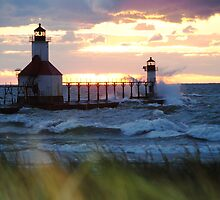 St Joseph North Pier Lighthouse by Debbie Mueller