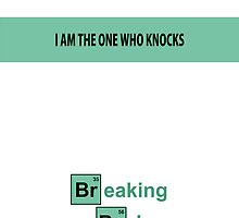 Breaking Bad - I am the one who knocks White [IPhone Case] by Ilcho Trajkovski