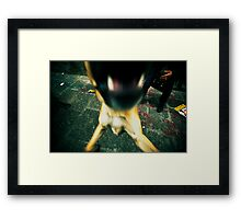 Barking dog mouth in cross processing Framed Print