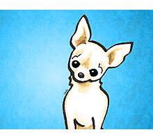 Cream Chihuahua Listen Up Photographic Print