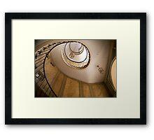 Beautiful round Stairway in Galerie Vivienne, Paris Framed Print