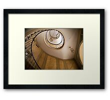 Beautiful round Stairway in Galerie Vivienne, Paris Framed Print