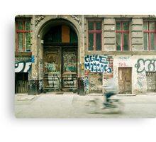 Bike riding through the streets of Berlin  Metal Print