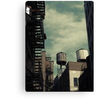 New York City roofs and water towers in Kodachrome Canvas Print