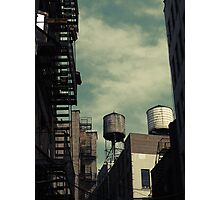 New York City roofs and water towers in Kodachrome Photographic Print