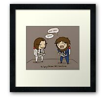 Game Grumps - Hairy back Framed Print