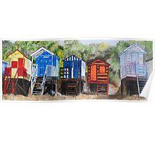 Beach Huts at Wells-next-the-Sea, Norfolk Poster