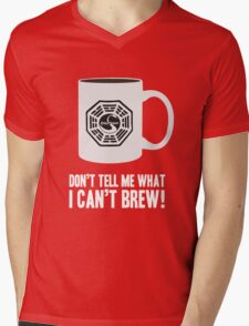"""Don't tell me what I can't brew!"" Dharma Initiative Coffee (Lost) Mens V-Neck T-Shirt"