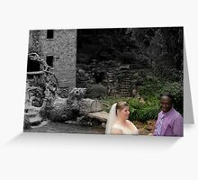 Bride and groom 1 Greeting Card
