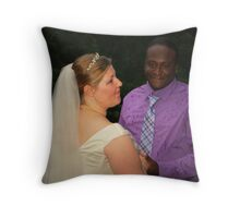 bride and groom 4 Throw Pillow