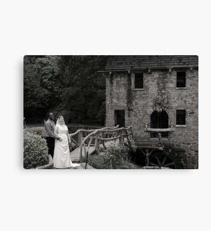 bride and groom 6 Canvas Print