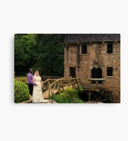 bride and groom 8 Canvas Print