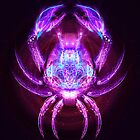 Cancer - Zodiac Lightburst by ifourdezign