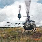 """""""Huey"""" Bell UH-1 Iroquois  by Dave Black"""