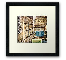 Old Fort Interior Room Framed Print