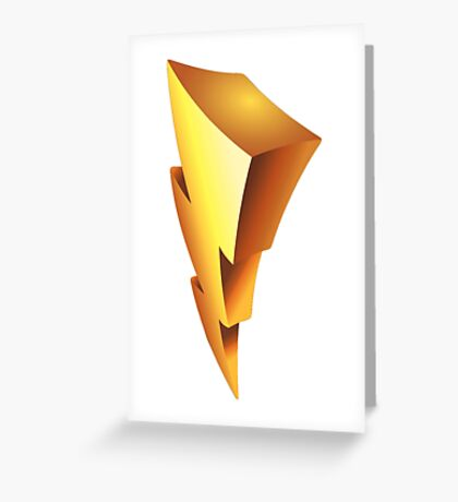 Mighty Morphin Power Rangers Symbol Greeting Card
