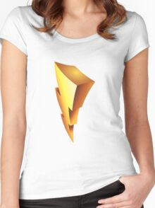 Mighty Morphin Power Rangers Symbol Women's Fitted Scoop T-Shirt