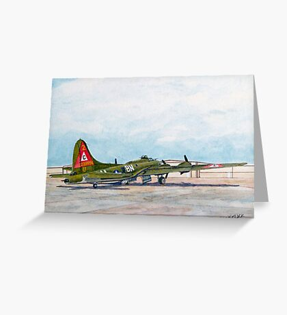 "Thunderbird B17G Boeing ""Flying Fortress"" Greeting Card"