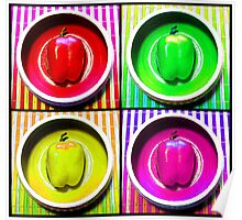 Bell Pepper Rainbow Poster