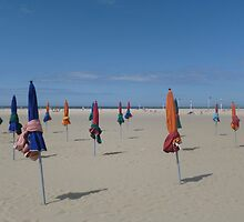 The parasols of Deauville by Caroline Clarkson