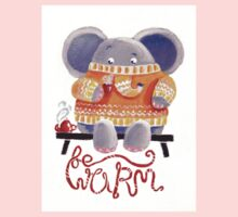 Be Warm! - Rondy the Elephant in his favorite sweater One Piece - Short Sleeve