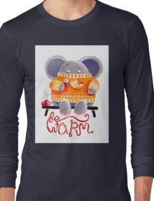 Be Warm! - Rondy the Elephant in his favorite sweater Long Sleeve T-Shirt