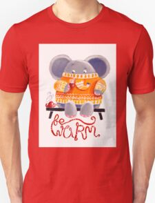 Be Warm! - Rondy the Elephant in his favorite sweater Unisex T-Shirt