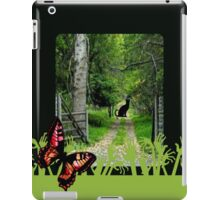 black cat iPad Case/Skin