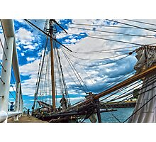 Tall Ship in Port Photographic Print