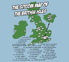 The Sitcom Map of the British Isles T-Shirt