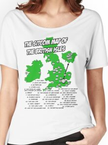 The Sitcom Map of the British Isles Women's Relaxed Fit T-Shirt