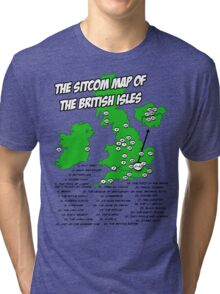 The Sitcom Map of the British Isles Tri-blend T-Shirt