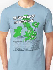 The Sitcom Map of the British Isles Unisex T-Shirt