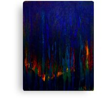 Abstract Evergreens Canvas Print