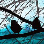 Birds In Shadow - Blue Sky Version by MSRowe Art and Design