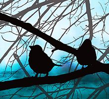 Birds In Shadow - Blue Sky Version by SRowe Art