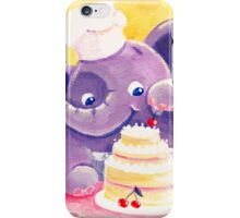 Baking - Rondy the Elephant making a delicious cake iPhone Case/Skin