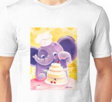 Baking - Rondy the Elephant making a delicious cake Unisex T-Shirt