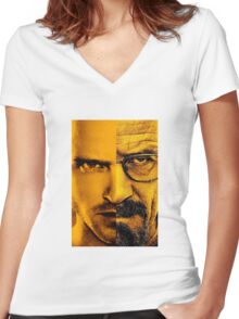Breaking Bad Finale Women's Fitted V-Neck T-Shirt