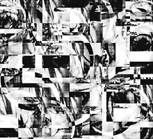 Geometric Confusion - Black and White by SRowe Art