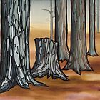 second stand; clearcut landscape painting by resonanteye