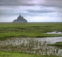 Mont St.Michel ( 3 ) The Flats by Larry Lingard-Davis