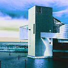Rock And Roll Hall Of Fame - Electric Blue by MSRowe Art and Design