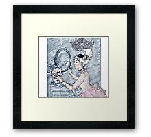 Marie Antoinette Halloween Blue Framed Print